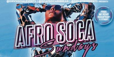 SUN: AFRO SOCA SUNDAYS! $5 Rum Punch|$150 Bottles|$15 Hookah