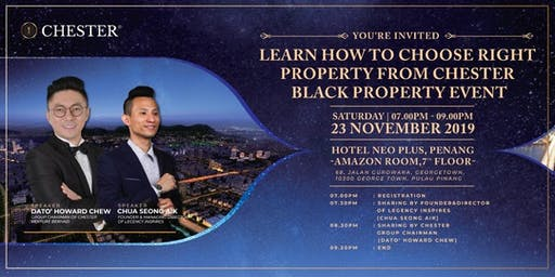 Learn how to choose the right property from Chester Black property event