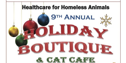 Healthcare for Homeless Animals Holiday Boutique and Cat Café