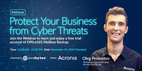 Protect Your Business from Cyber Threats (Webinar) tickets