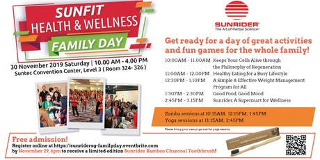 Sunrider Singapore SunFit Health & Wellness Family Day tickets