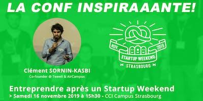 Conférence : Entreprendre après un Startup Weekend