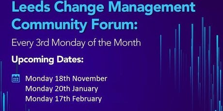 Leeds Change Management Forum - January tickets