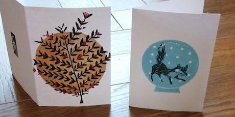 Linoprint Christmas Card Workshop  tickets