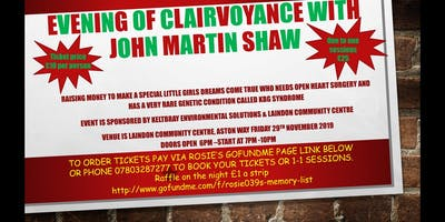 Charity clairvoyance night with John Martin Shaw