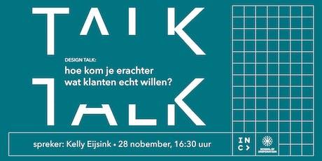 Design Talk: hoe kom je erachter wat klanten echt willen? tickets
