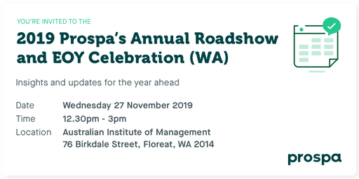 2019 Prospa's Annual Roadshow and EOY Celebration (WA)