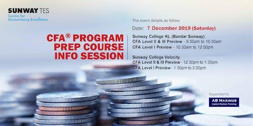 Sunway TES CFA® Program prep course Info session (Sunway College @ Velocity)