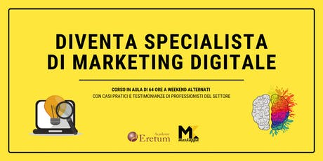 Diventa uno Specialista di Marketing Digitale biglietti