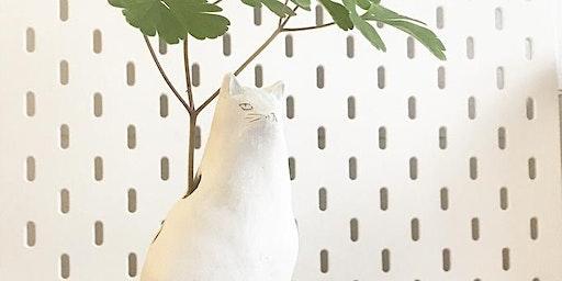 Sculpt a Cat Bud Vase with BIRDCANFOX