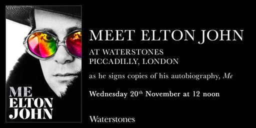 Meet Elton John at Waterstones Piccadilly