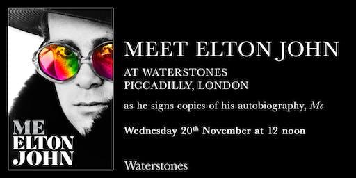 Meet Elton John at Waterstones Piccadilly