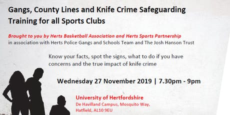 Gangs, County Lines and Knife Crime Safeguarding Training for Sports Clubs tickets