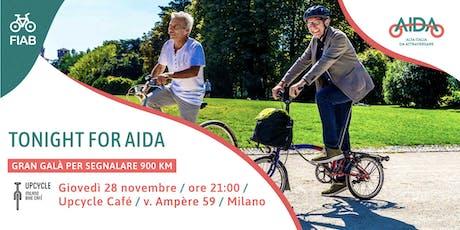 Tonight for AIDA  - gran galà per segnalare la Ciclovia AIDA biglietti