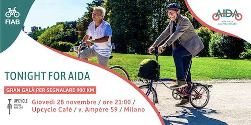 Tonight for AIDA  - gran galà per segnalare la Ciclovia AIDA