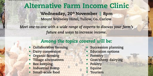 TEAGASC Alternative Farm Income Clinic