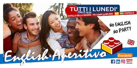 English Aperitivo --> No english, no party! biglietti