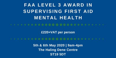 FAA Level 3 Award in Supervising First Aid Mental Health
