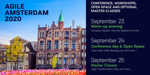 AGILE AMSTERDAM 2020 | September 23 - 25 | Conference, Workshops, Open Space and optional Master Classes