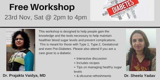 """Diabetes Care"" FREE WORKSHOP"