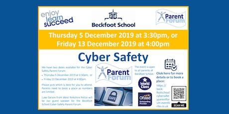 Beckfoot School Cyber Safety Parent Forum tickets