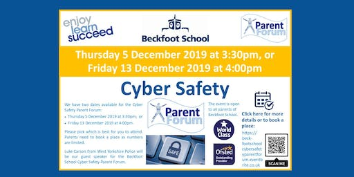 Beckfoot School Cyber Safety Parent Forum