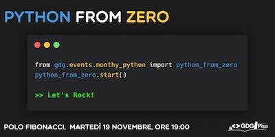 "print(""Python from zero"")"