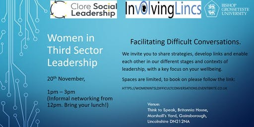 Women in Third Sector Leadership, Facilitating Difficult Conversations.