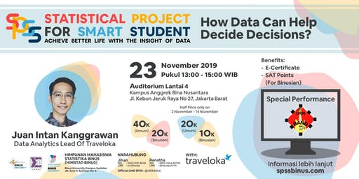 SPSS Talkshow : How Data Can Help Decide Decisions ?
