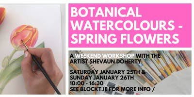 Spring Flowers in Watercolour // A Weekend Workshop