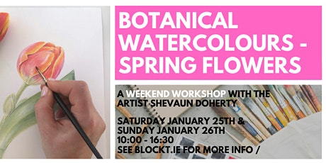 Spring Flowers in Watercolour // A Weekend Workshop tickets
