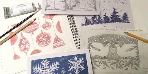Lino Printing - Christmas theme with Jill Dow