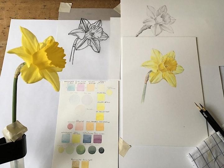 Spring Flowers in Watercolour // A Weekend Workshop image