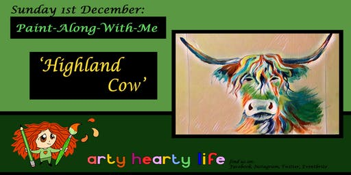 'Highland Cow' Paint-Along-With-Me @ YourSpace.Sutton