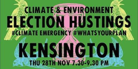 Climate & Environment Hustings - Kensington tickets