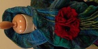 Create a Unique Frilled Felted Scarf and Poppy Brooch