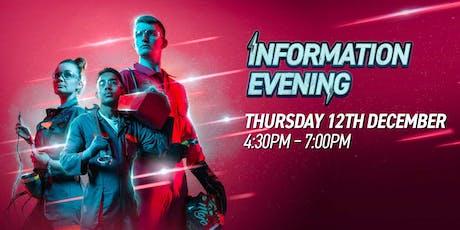 December Information Evening tickets