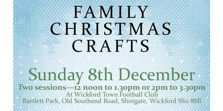 Family Christmas Crafts - raising money for children with ASD/Anxiety tickets