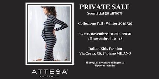 ATTESA MATERNITY - Private Sale Milano FW 2019/20