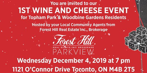 1st Wine and Cheese Event at Forest Hill Real Estate Parkview