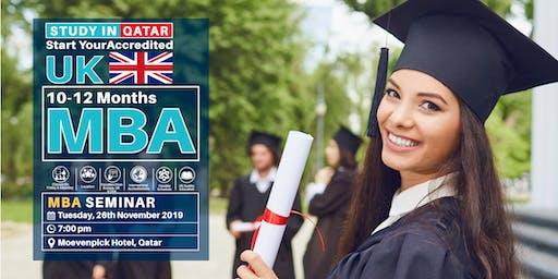Free MBA Seminar  - 26th November - Qatar