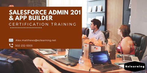 Salesforce Admin 201 and App Builder Certification Training in Iowa City, IA