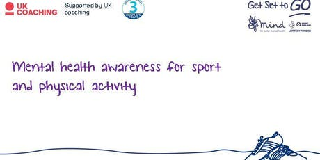 Mental health awareness training for sports and physical activity providers tickets