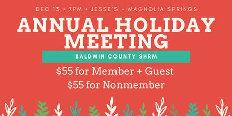 BCSHRM Annual Holiday Meeting tickets