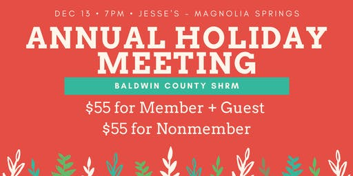 BCSHRM Annual Holiday Meeting