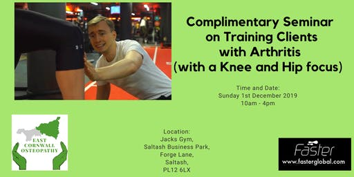 Complimentary seminar on Training Clients with Arthritis (with an Knee and Hip focus)