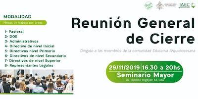 Reunión General de Cierre 2019