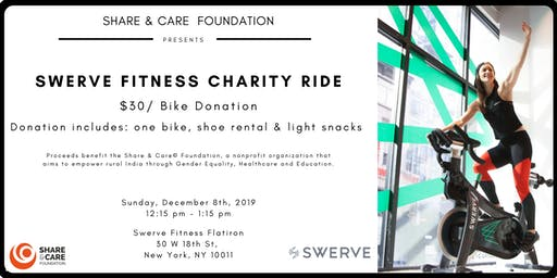 Share & Care Charity Ride at Swerve Fitness in New York!