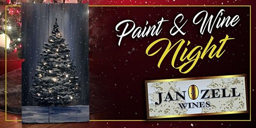 Jan Zell Wines Paint Event Tree with Lights!