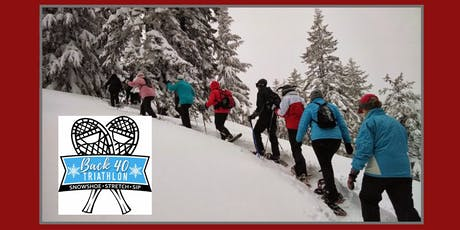 Back 40 Triathlon: snowshoe.stretch.sip tickets